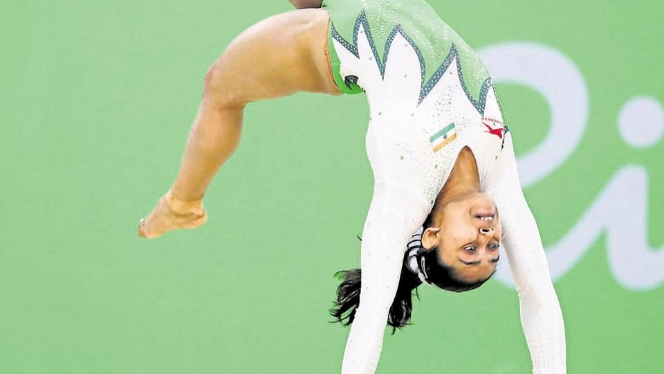 Representative Image. Indian gymnast Dipa Karmakar participates in the 2016 Rio Olympic Games.