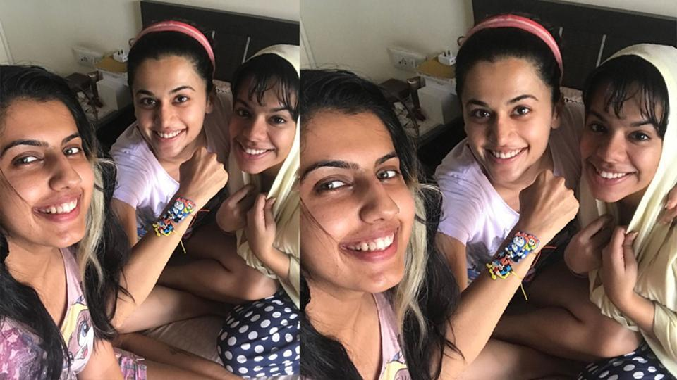 Taapsee Pannu shows her rakhis in throwback picture.
