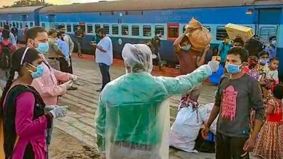 Migrants undergo thermal screening Ganjam, May 3, 2020