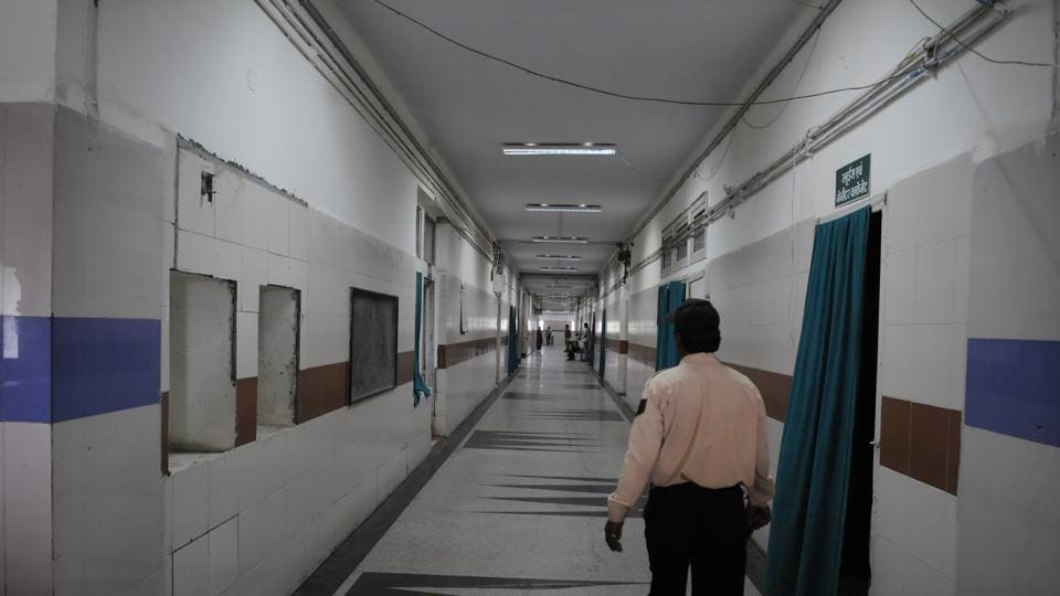 Inside view of MY Hospital in Indore.