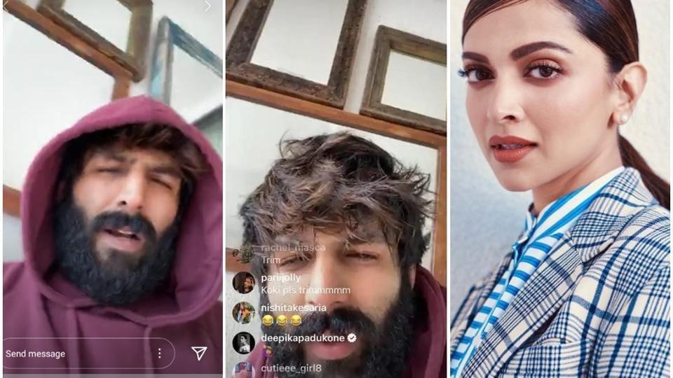 Deepika Padukone wants Kartik Aaryan to shave off his beard, while Manish Malhotra thinks he looks cool.