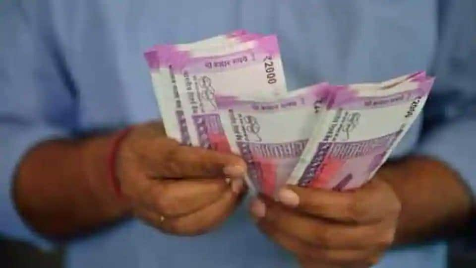 The rupee slipped 10 paise to close at 75.56 (provisional) against the US dollar on Thursday, tracking weak domestic equities.