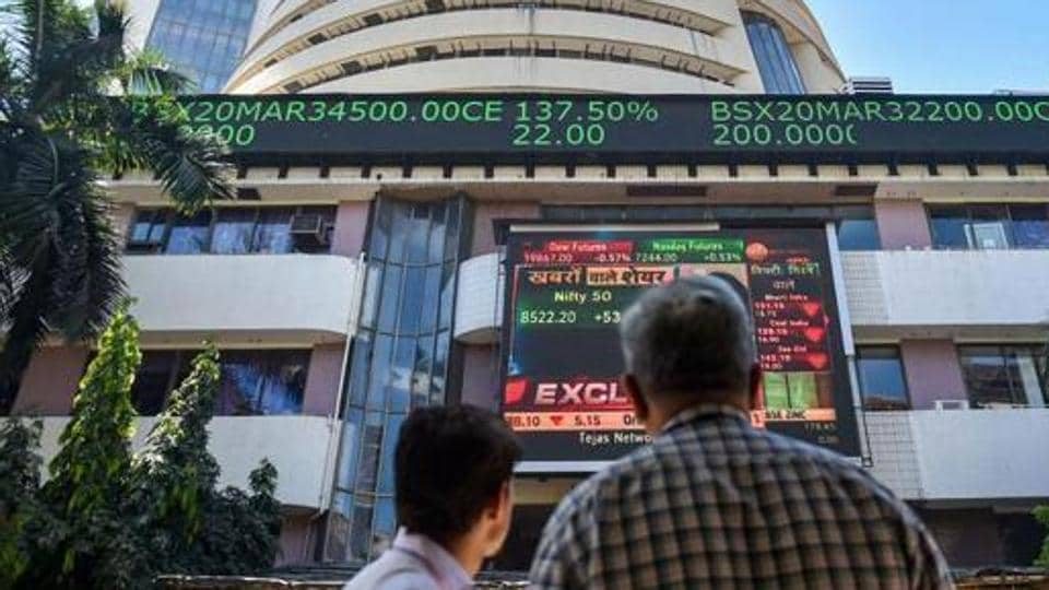 The BSE Sensex ended at 32,008.61, up 637.49 points or 2.03% while the 50-share index Nifty was at 9,383.55, up 187 or 2.03%.