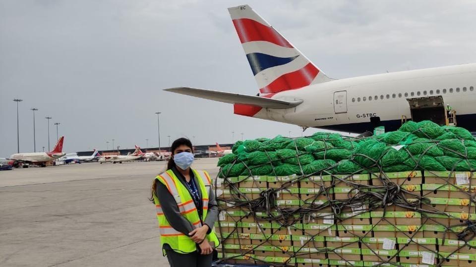 Airport staff procuring essentials