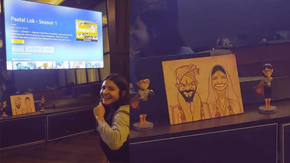 Anushka Sharma shared a glimpse of her living room on Instagram.