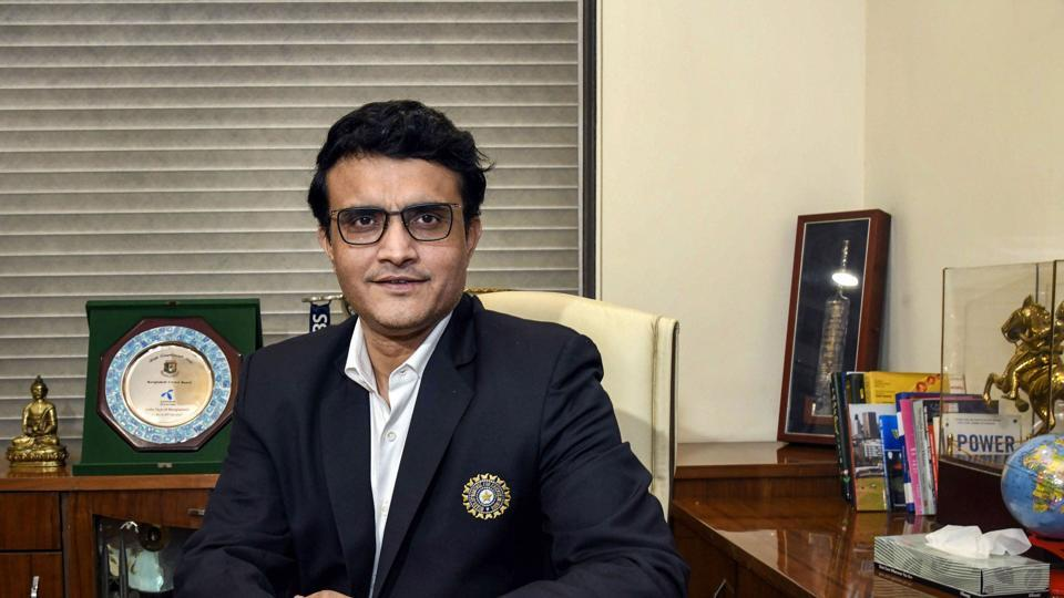 Sourav Ganguly poses for a photograph after taking charge as the new BCCI President at BCCI headquarters.