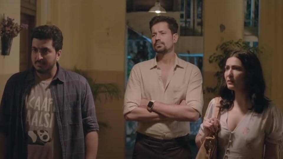 Official Bhootiyagiri review: Vishwajoy Mukherjee, Sumeet Vyas and Eisha Chopra in a still from the show.