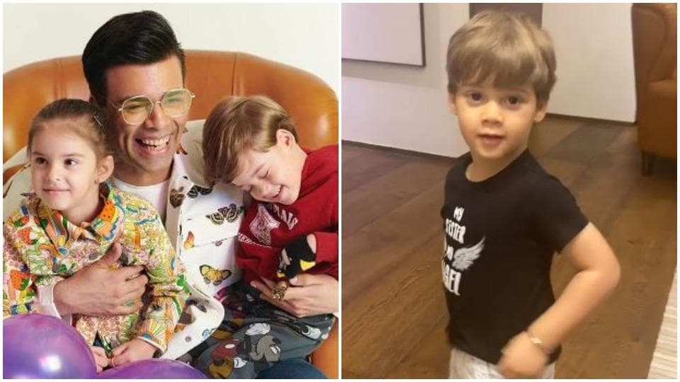 Karan Johar quizzed his kids Yash and Roohi in new video.