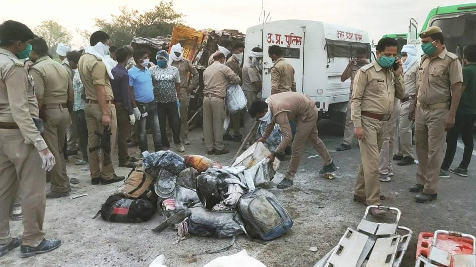 The truck trolley was carrying migrant labourers from Jaipur and Bharatpur districts of Rajasthan and most of them from UP's Kushinagar, Bihar, Jharkhand and West Bengal.