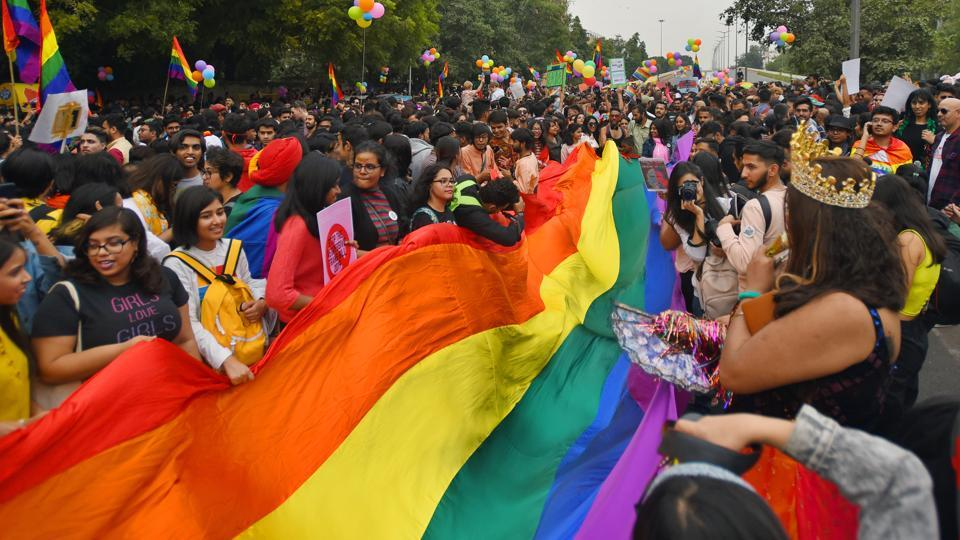 A representational photo from Delhi's 12th Queer Pride March held in 2019.