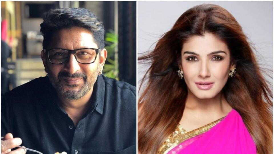 Arshad Warsi and Raveena Tandon had a conversation over Twitter.