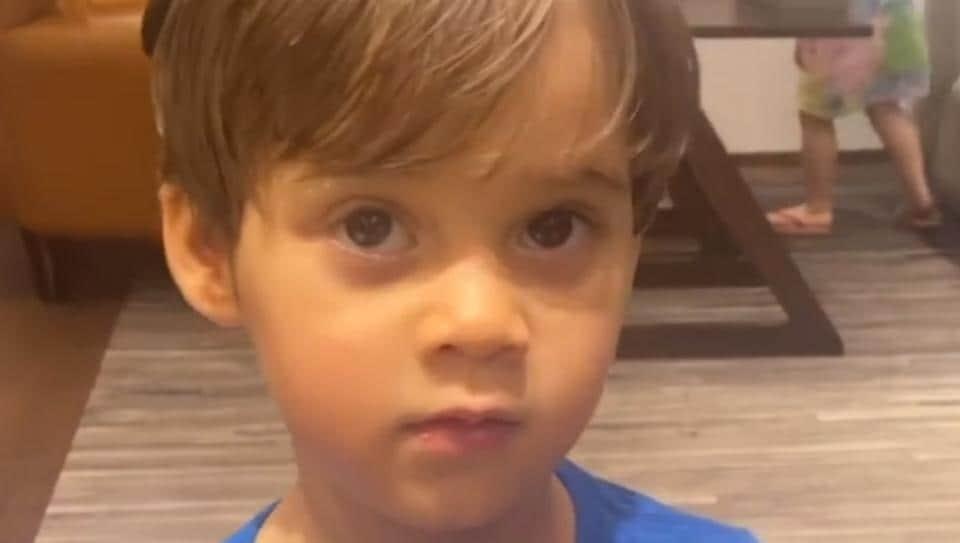 Karan Johar shared a new video of his kids.