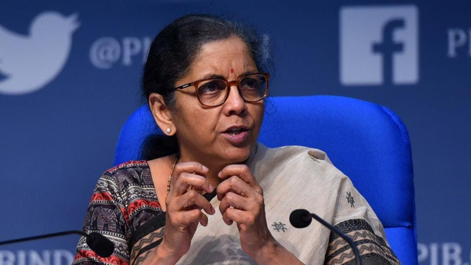 Union Finance Minister Nirmala Sitharaman addresses the media during the fourth briefing on Centre's economic stimulus package, in National Media Center, New Delhi.