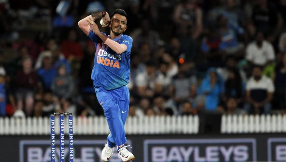 Hamilton: India's Yuzvendra Chahal in action during the third T20I of the five-match rubber between India and New Zealand at Seddon Park in Hamilton, New Zealand on Jan 29, 2020. (Photo: IANS)
