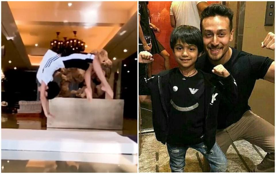 Tiger Shroff is in awe of ShilpaShetty's son Viaan.