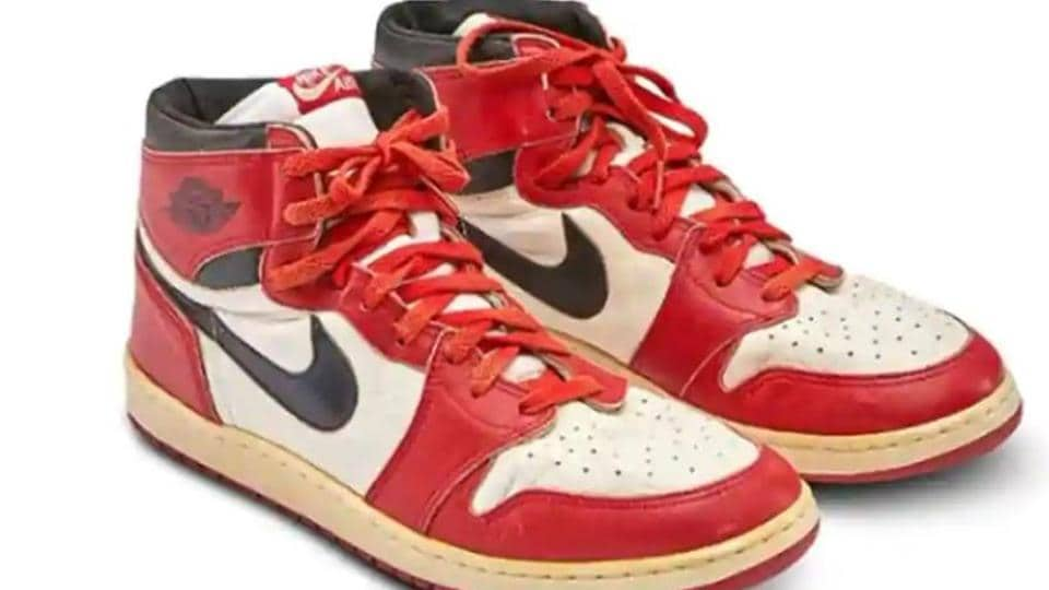 Michael Jordan's sneakers fetch record $560,000 at Sotheby's.