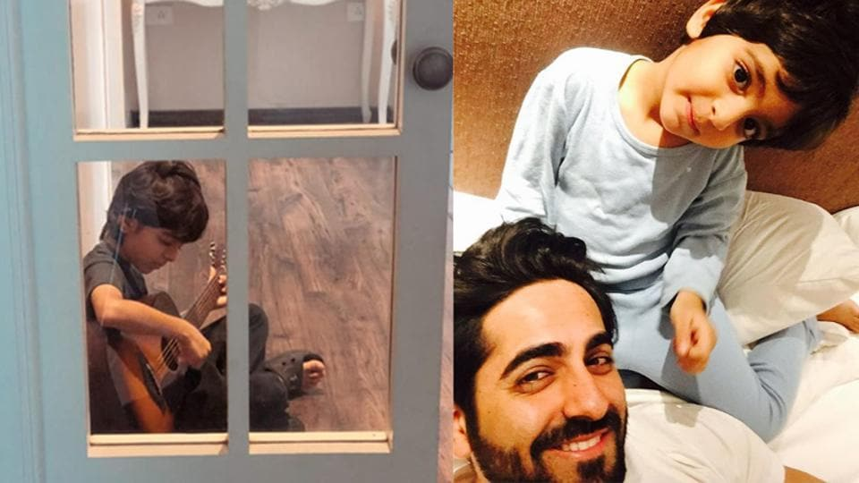 Ayushmann Khurrana has shared a new picture of his son Virajveer.