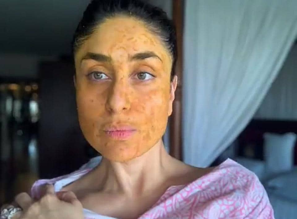 """Actor Kareena Kapoor Khan recently posted a video and captioned, """"Summer essentials: Messy bun, Kaftan and homemade mask""""."""
