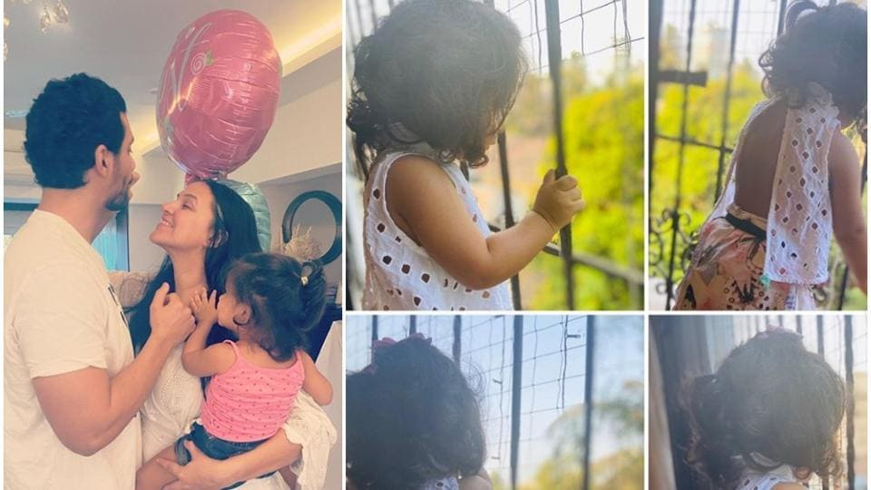 Neha Dhupia shared new pictures of daughter Mehr Dhupia Bedi.