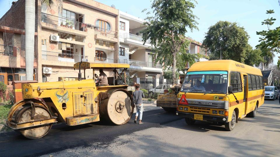 After the lockdown delayed road re-carpeting and repair works, contractors on Wednesday, began basic road cleaning work, while the laying of bitumen and tar-coal will begin in the next few days in Chandigarh.