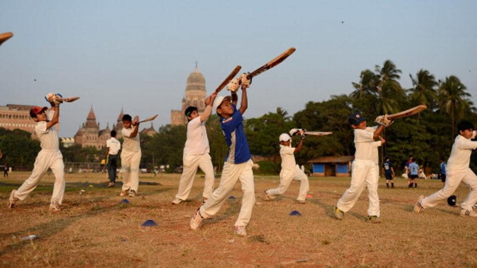 The pre-lockdown days: Kids practice at the historic Azad Maidan in Mumbai