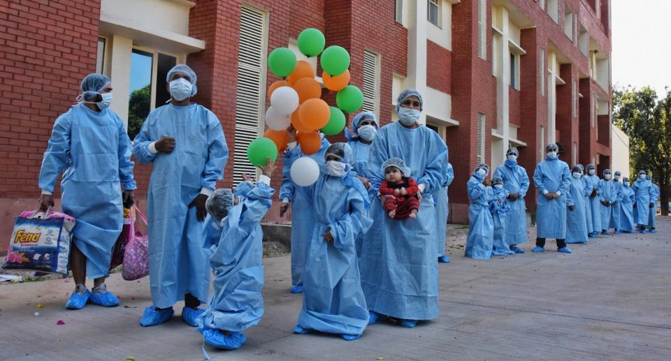 As many as 124 people have been discharged in the past three days in Chandigarh.