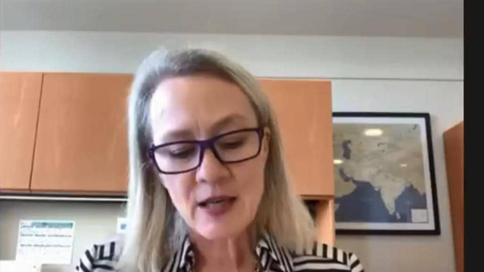 Alice Wells, senior US diplomat, during a virtual discussion organised by the Atlantic Council.