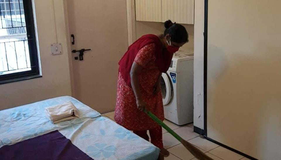 Rajeshri Shendge works as a roundtheclock maid in Athashree housing society in Pashan.