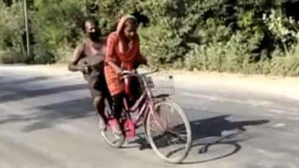 15-year-old Jyoti Kumari, who cycled 1200 km carrying her injured father from Delhi to Darbangha.