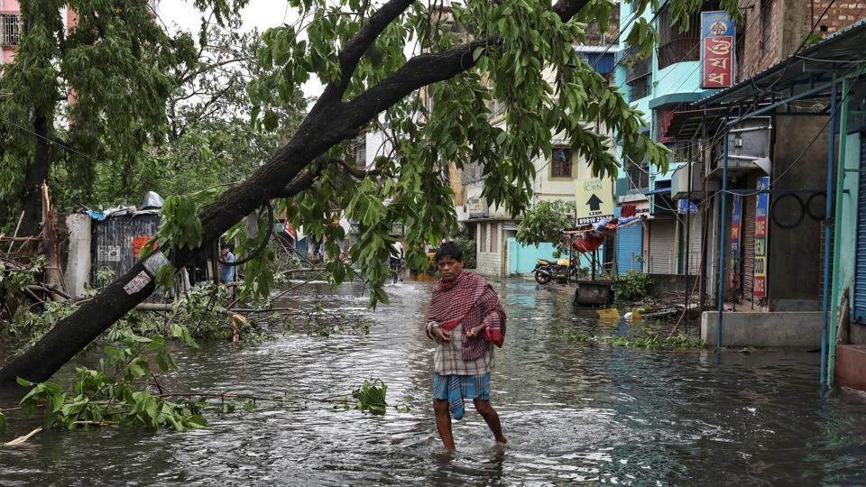 The extremely severe cyclonic storm Amphan made a landfall at Digha in West Bengal and Bangladesh on Wednesday, leaving a trail of destruction.
