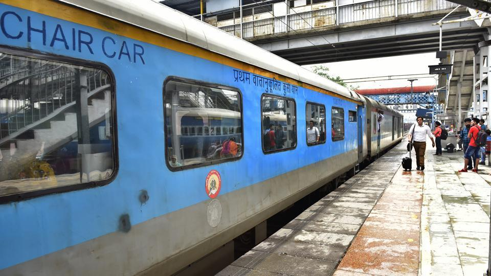 File photo: Shatabdi express at platform number 2 at Railway Station in Ludhiana.