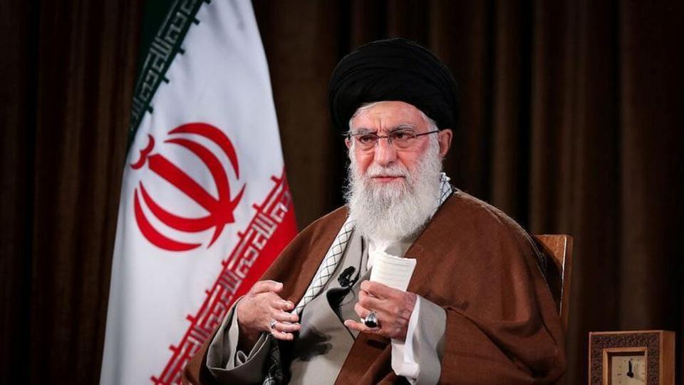 Iran's Supreme Leader Ayatollah Ali Khamenei delivers a televised speech, in Tehran.