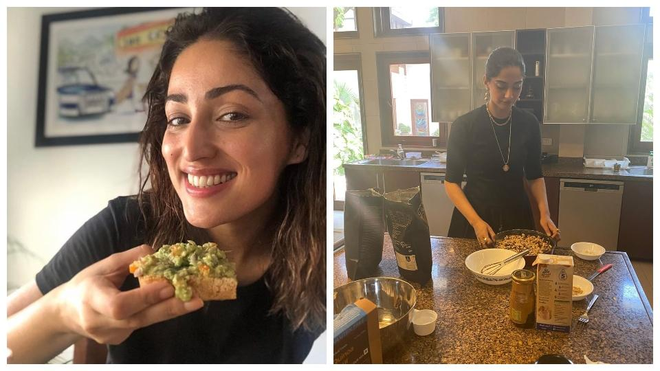 With the nation in a lockdown for over two months now, celebrities are using the time to sharpen their culinary skills. Yami Gautam relishes the gluten-free bread made by her, while Sonam Kapoor whips up a chocolate walnut cake.