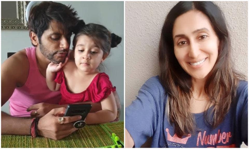Karanvir Bohra's daughter Bella did not like his recent TikTok video in which he jokingly hit wife Teejay Sidhu.