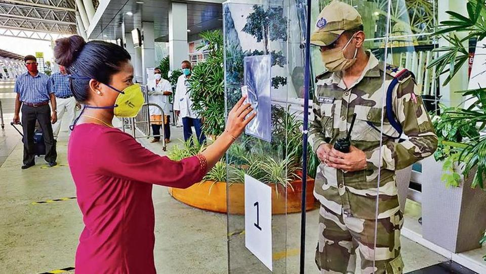 Preparations underway at the Chennai airport for a calibrated resumption of flights from May 25.