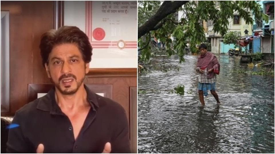 Shah Rukh Khan is praying for West Bengal and Odisha residents.