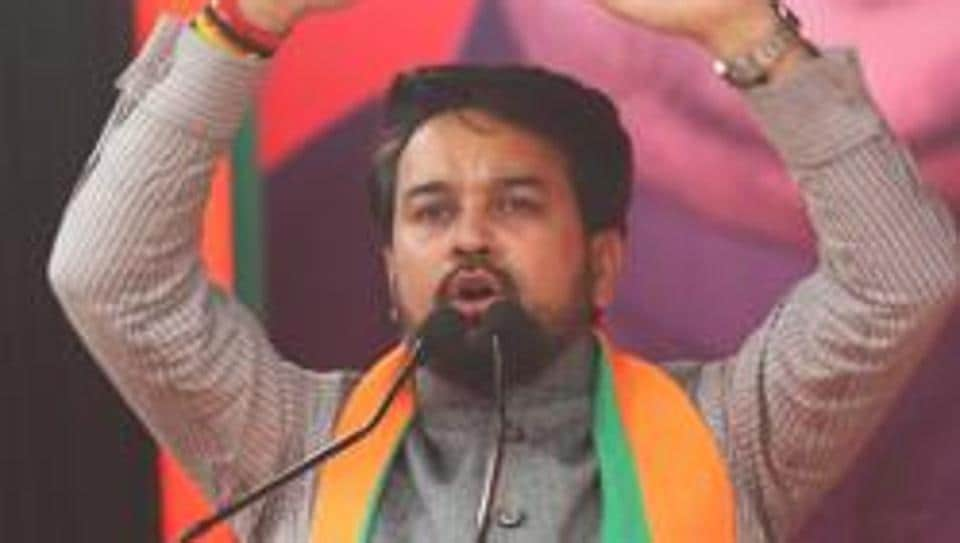 Emphasising that the Modi government is sensitive to the needs of people and businesses, Anurag Thakur said, the ministry is taking the inputs from various sectors.0. (HT Photo)