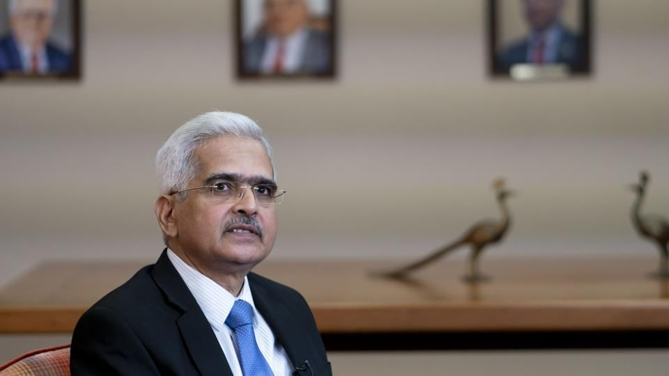 Shaktikanta Das, governor of the Reserve Bank of India (RBI), listens during an interview at the central bank in Mumbai, India.