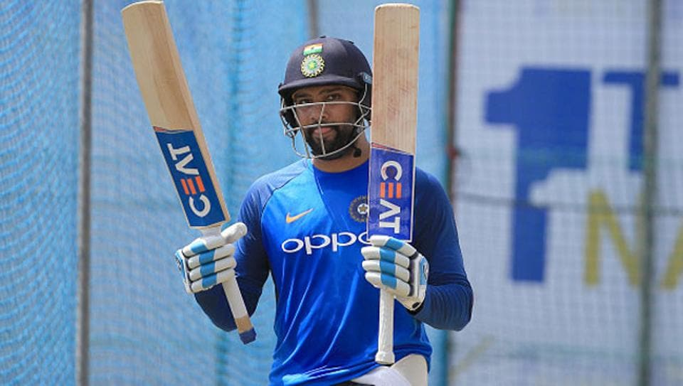 Rohit Sharma during India nets