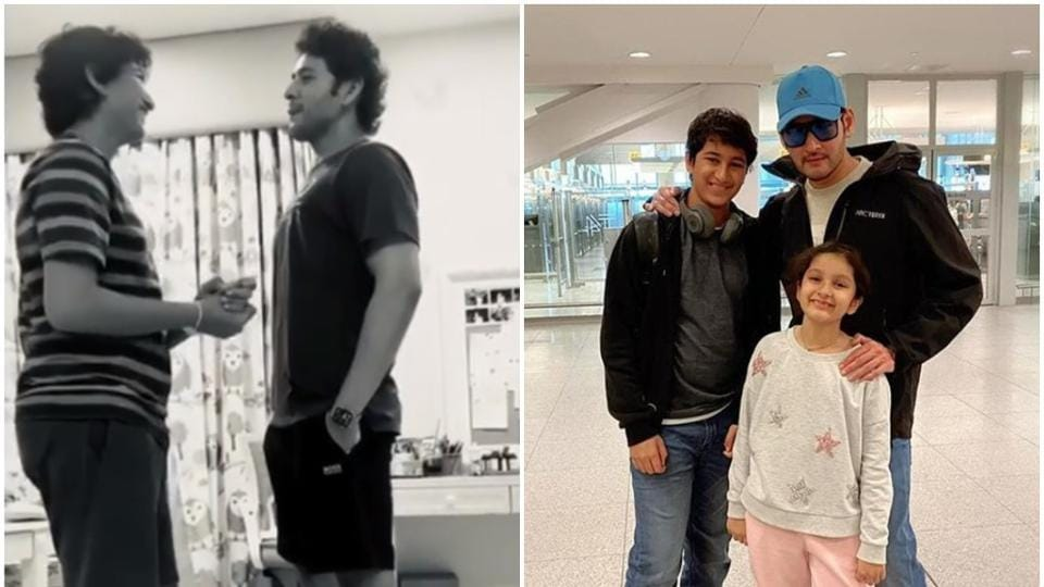 Mahesh Babu has been posting videos with his kids.