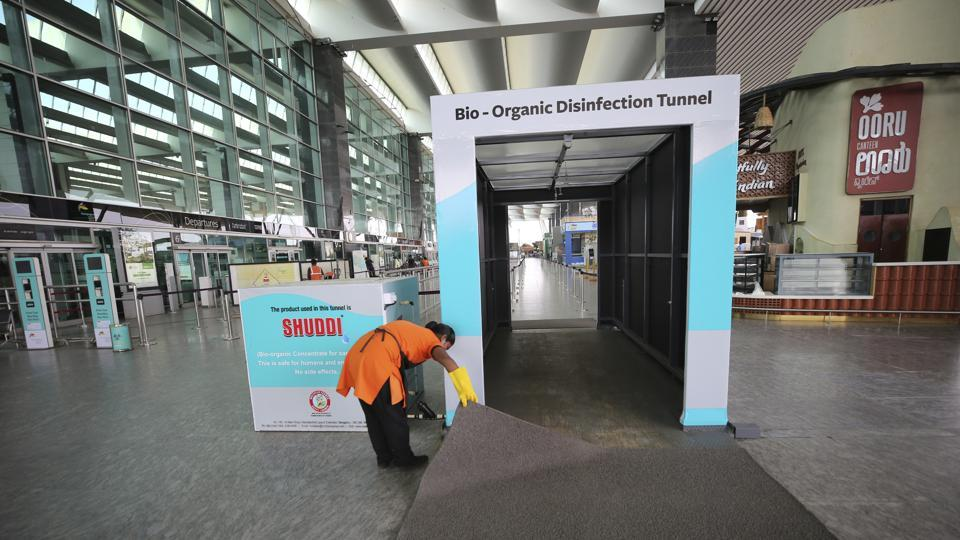 To protect passengers and staff from the risk of COVID-19 transmission, the Bangalore International Airport Limited (BIAL) that operates the airport has introduced a parking-to-boarding contactless journey