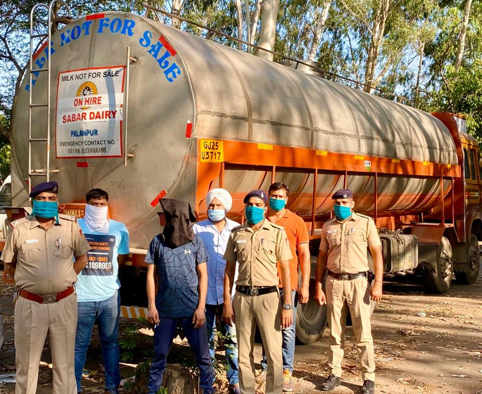 21K liquor bottles recovered from Gujarat-bound milk truck in Chandigarh