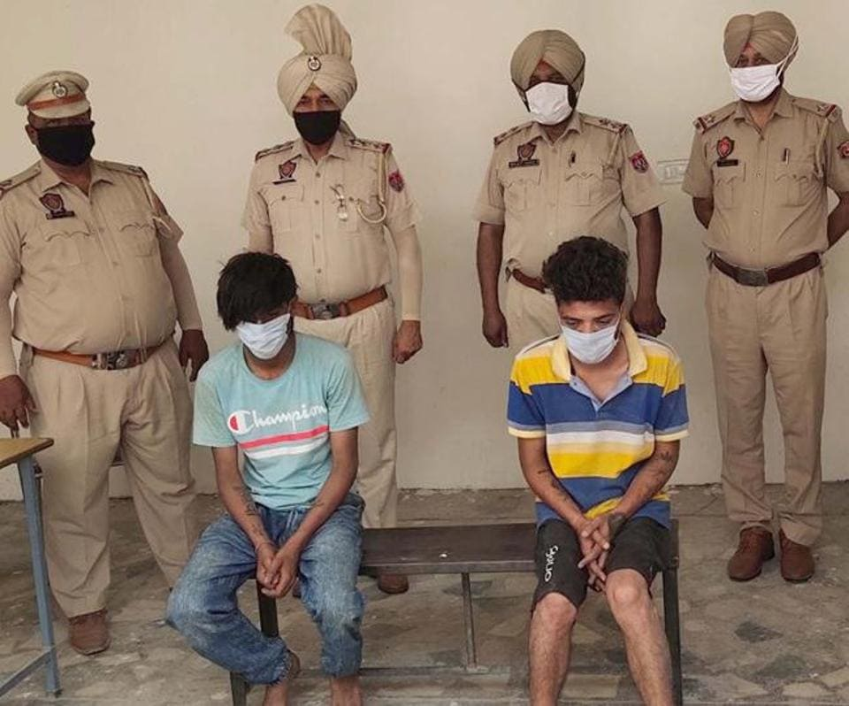 The accused in police custody in Ludhiana on Saturday.