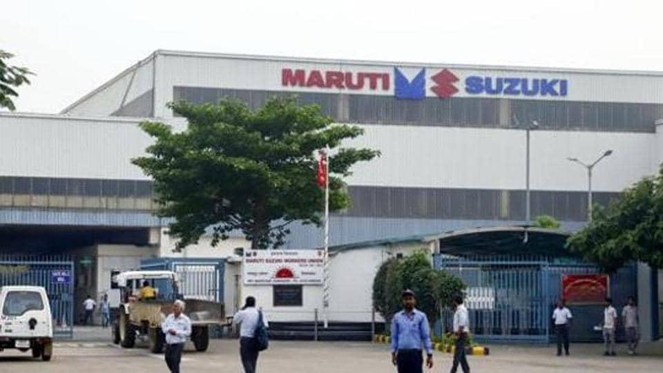File photo of the Maruti Suzuki plant in Manesar, Haryana