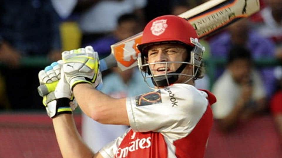 Adam Gilchrist in action for Kings Xi Punjab