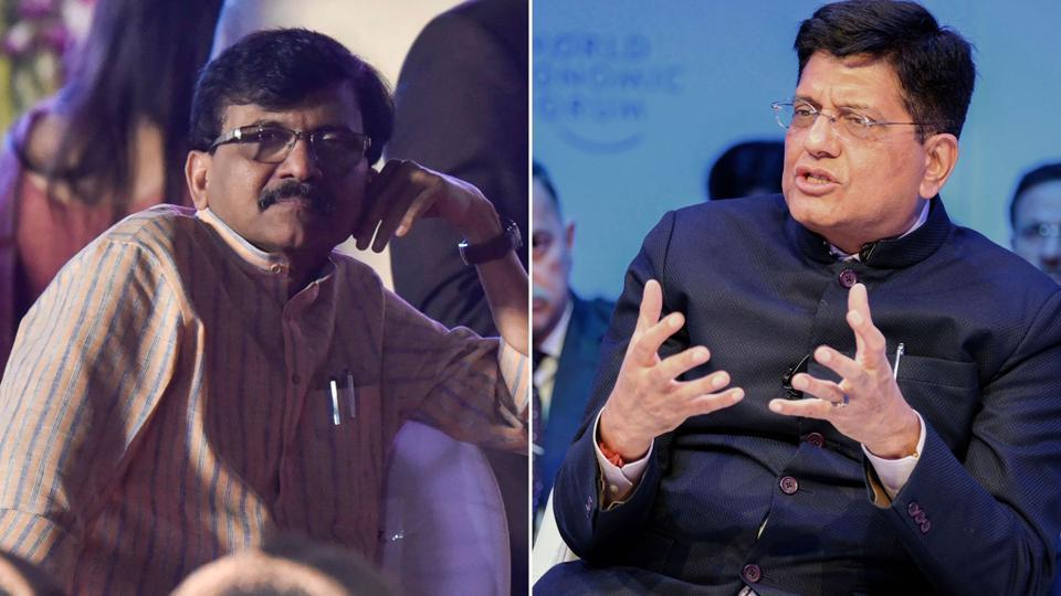 Shiv Sena's Sanjay Raut  sprang to the CMUddhav Thackeray's defence and took on union minister Piyush Goyal.