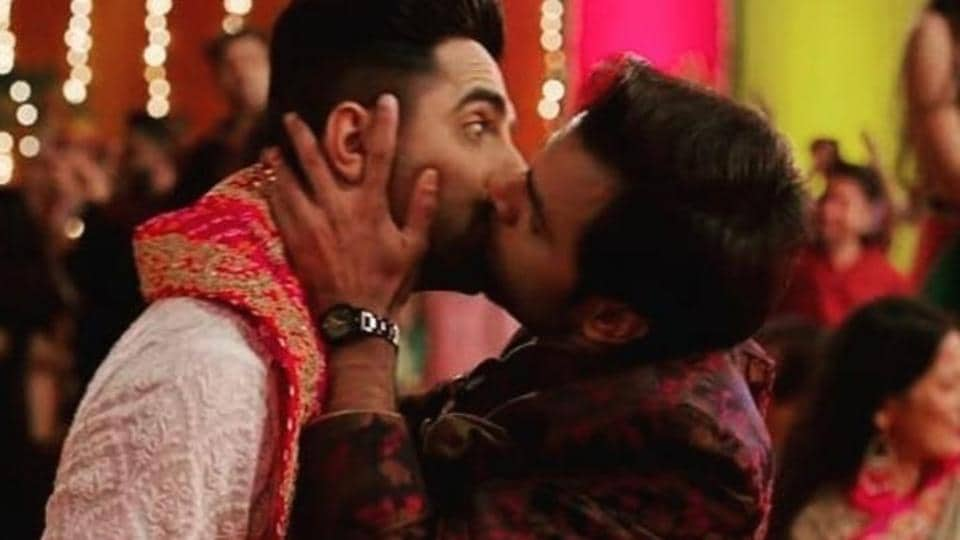 Smooch: Contrary to popular belief, this kiss is not the first ever expression of sexual intimacy between two gay men in a Hindi film.