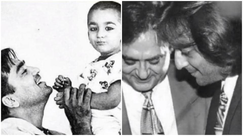 Sanjay Dutt has shared pictures with dad Sunil Dutt.