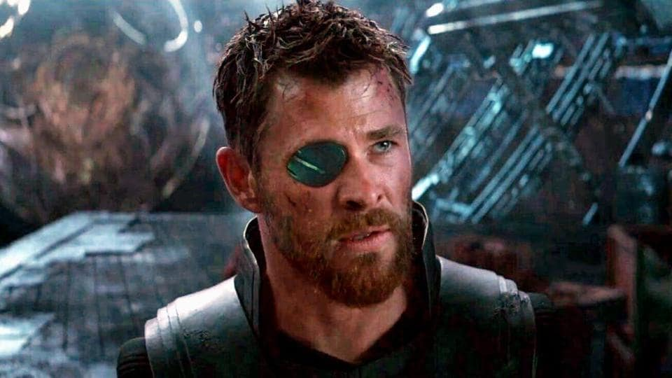 Chris Hemsworth as Thor in a still from Avengers: Infinity War.