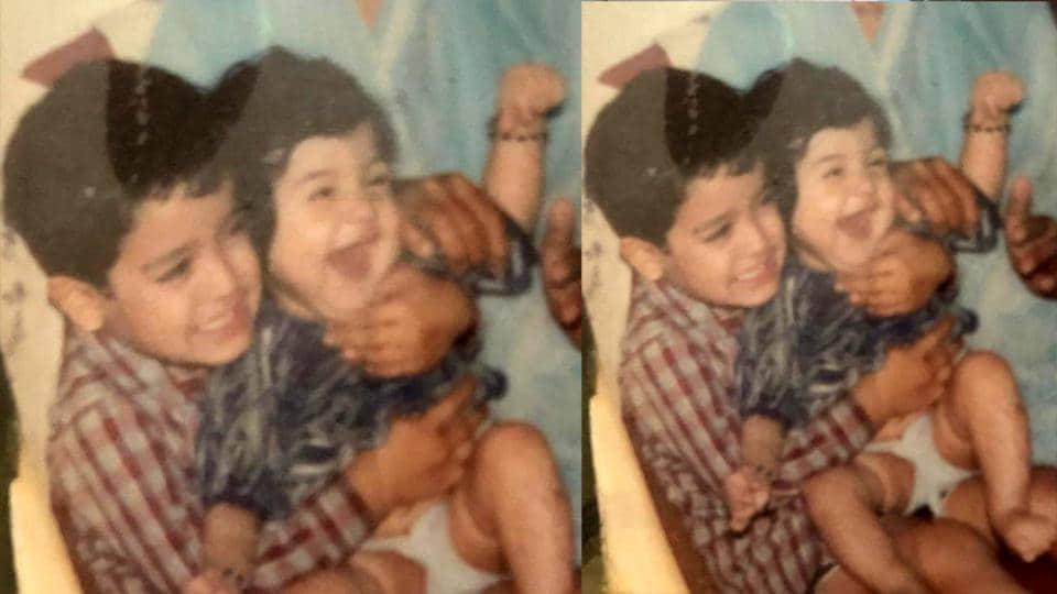 Anushka Sharma with brother Karnesh Sharma.